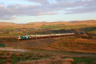 47593 tnt 47501 on the 1Z64 0919 Fort William to Milton Keynes at Greenholme on the 25th March 2019