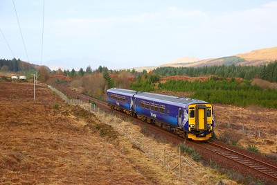 156474 on the 1Y42 0603 Mallaig to Glasgow Queen Street at Achnabobane on the 25th March 2019
