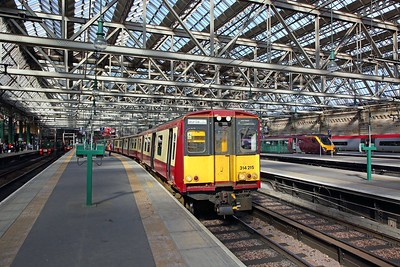 314215 on the 2I19 1415 Glasgow Central circular via Cathcart at Glasgow Central on the 25th March 2019