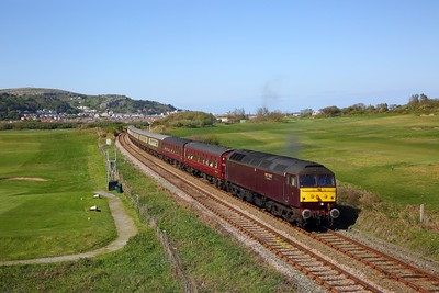 47832 tnt 47854 on the Llandudno to Gainsborough Lea Road at Deganwy on the 4th May 2019