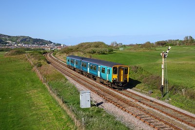150245 on the 2Z12 1620 Llandudno to Llandudno Junction at Deganwy on the 4th May 2019