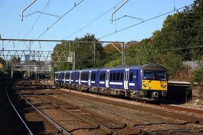 360107 on the 1Y12 1002 London Liverpool Street to Ipswich at Manor Park on the 2nd October 2019