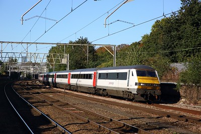 82105 tnt 90010 on the 1P16 0930 London Liverpool Street to Norwich at Manor Park on the 2nd October 2019