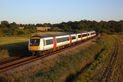 170203 on the 2J87 1748 Lowestoft to Norwich at Oulton Broad Marshes on the 21st September 2019
