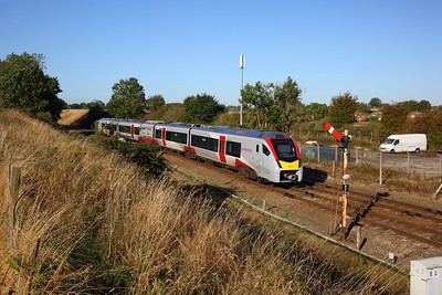 755418 on the 2P11 0847 Great Yarmouth to Norwich at Acle on the 21st September 2019