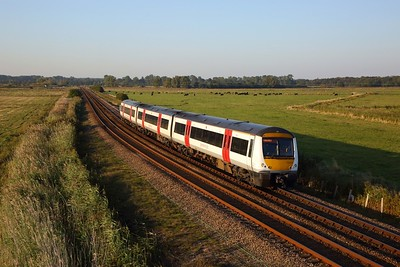 170203 on the 2J84 1657 Norwich to Lowestoft at Oulton Marshes on the 21st September 2019