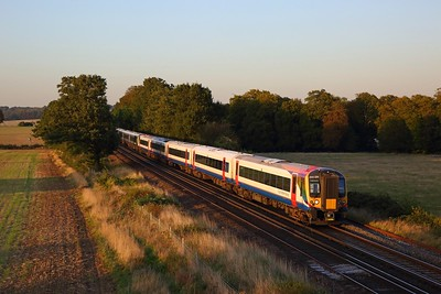 444019+444040 on the 1W35 1735 London Waterloo to Weymouth and Poole at Wallers Ash on the 19th September 2019