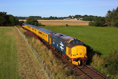 37402 leads 37419 on 1Q78 Inverness Millburn yard circular via Thurso and Wick at Fearn on 9 August 2020