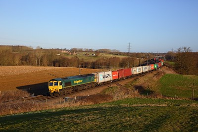 66526 on the 4M94 0750 Felixstowe North to Lawley Street at Brantham on the 12th February 2020