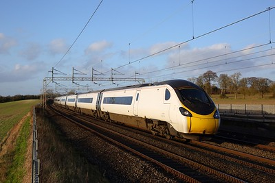 390136 on the 9M53 1000 Glasgow Central to London Euston at Cow Roast on the 1st February 2020