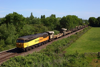 56078 on 6C77 Flitwick to Toton yard at Syston on 23 June 2020  Class56, ColasRail, BhamPboroline