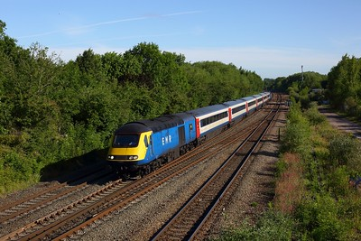 43484 leads 43480 DY23 1C98 0731 Derby to London St Pancras at Syston on 23 June 2020  EMRHST, MML, LeicestershireMML