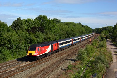 43318 leads 43257 on NL12 on 1B23 0634 Leeds to London St Pancras at Syston on 23 June 2020  LeicestershireMML, MML, EMRHST