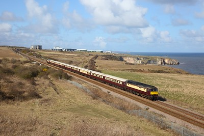 57601 tnt 57313 on the 1Z13 1315 Newcastle to Castleton at Seaham on the 20th March 2020
