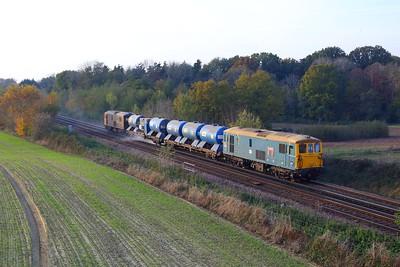 73201 leading 73109 on 3W75 Tonbridge west yard circular via London Victoria departing Tonbridge on 7 November 2020  Class73, GBRf, RHTT, SouthEasternmainline