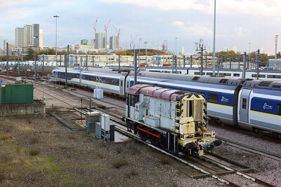 08948 based at the Eurostar depot at Temple Mills on 10 November 2020