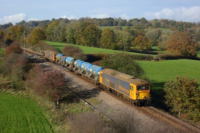 73141 leading 73212 on 3W90 Tonbridge west yard circular rhtt at Blackham on 5 November 2020  Class73, GBRf, UckfieldBranch