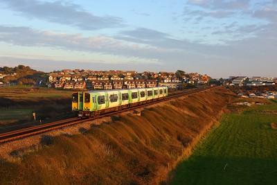 313209 working the 2C45 1553 Seaford to Brighton departing Bishopstone on 6 November 2020