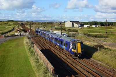 380022 working 1K39 1531 Glasgow Central to Ayr at Gailes, Irvine on 1 October 2020  Class380, Scotrail, AyrshireCoast