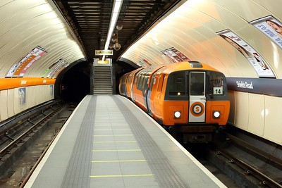 Glasgow Subway train No  107 leads an Inner service at Shields Road on 1 October 2020  GlasgowSubway