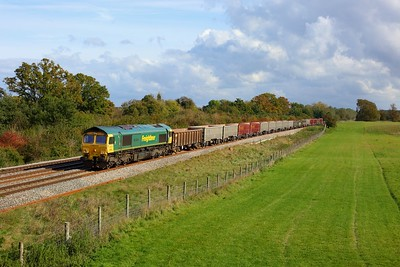 66501 working 6C58 Oxford Banbury Road to Whatley at Hungerford on 16 October 2020  Freightliner66, BandH