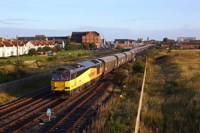 60085 powering the 6H12 Tyne Yard to Drax at Hartlepool on 4 September 2020  Class60, GBRf, DurhamCoast