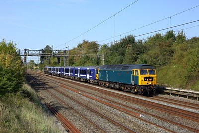 47727 leading 360116 and 47739 on 5Q60 Northampton to Ilford at Bourne End on 19 September 2020  Class47, GBRf