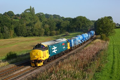 37418 working 6Z37 0837 Shrewsbury Coleham to Gloucester Horton Road at All Stretton on 22 September 2020  Class37, ColasRail, Marches