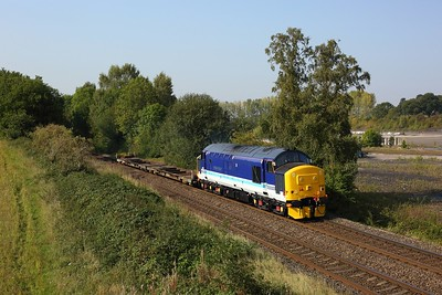 37425 hauls Wagon IKA 6849094493 as 4Z67 1238 Long Marston to Daventry at Daw Mill on 21 September 2020  Class37, DRS, DawMill