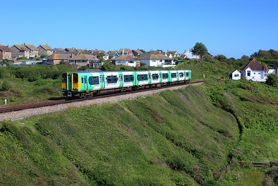 313208 working 2C43 1528 Seaford to Brighton departing Seaford on 14 August 2021  Class313, Southern, SeafordBranch