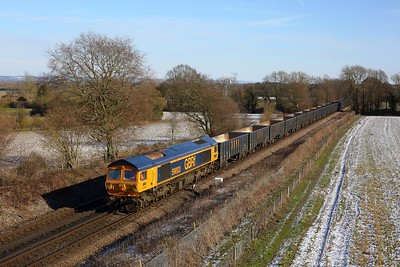 59003 working 6Y19 Mountfield to Southampton Western Docks at Tudeley (as far as Whitton junction before going back to Tonbridge) on 12 February 2021  Class59, GBRf, SouthEasternMainline