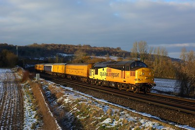 37175 working 3Z03 Derby RTC to Dollands Moor at Polhill on 12 February 2021  Class37, ColasRail, TestTrain, SouthEasternMainline