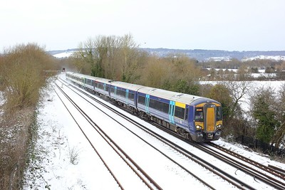 377503 leading 377164 on 2N42 1425 London Victoria to Canterbury West at Otford junction on 9 February 2021  Class377, Southeastern, TheMaidstoneLine