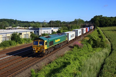 66544 working 4L89 Crewe Basford Hall to Felixstowe at Kings Langley on 29 July 2021  Freightliner66, Class66, WCMLSouth, Freightliner