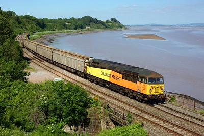 56094 working 6Z50 1147 Doncaster Roberts Road to Cardiff Pengam at Purton on 13 June 2021  Class56, ColasRail, GloucesterNewportLine,