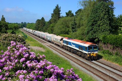 59103 working 6A74 Whatley to Theale at Wotton Rivers on 16 June 2021  Class59, BandH, Freightliner