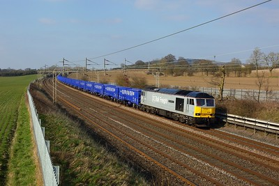 60046 powering 6Z31 1000 Chaddesden to Wembley yard at Cow Roast on 7 March 2021  Class60, DCRail, WCMLSouthEast