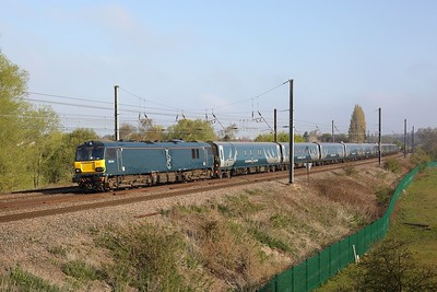 92014 working 1M16 Inverness to London Euston at Welham Green on 1 May 2021  Class92, ECMLSouth, CaledonianSleeper, GBRf