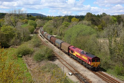 66002 working 6H27 Margam to Llanwern at Miskin on 6 May 2021  Class66, DB66, SouthWalesmainline