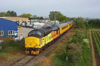 37421 leading 37219 on 1Q08 Ipswich to Derby RTC via Sizewell and Sheringham arrives at Sizewell on 31 May 2021  Class37, ColasRail, SizewellBranch, TestTrain