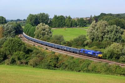 66051 working 6M15 Tytherington to Calvert at Hungerford on 8 September 2021  DBCargo, Maritime, BerksandHants, BandH, DB66