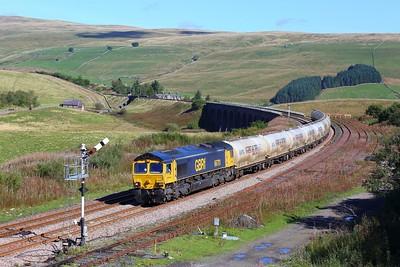 66701 working 4N03 Carlisle to Clitheroe at Garsdale on 20 September 2021  GBRf66, GBRf, SandC, SettleandCarlisle