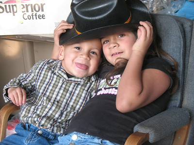 Hannah's kids tony and graciela