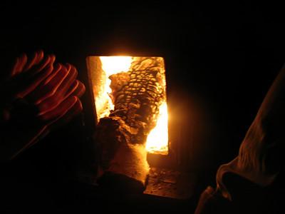feeding the fire at steve's house