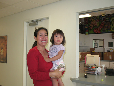 My boss's wife Lupe Mendoza and her granddaughter