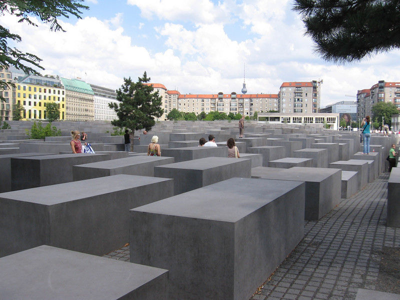 More of the Holocaust Memorial. The man who created it made sure that each block was a different size and shape, and he actually wanted people to use it. To walk across it on their way to work. However, there are some people there who tell you to stay off the memorial, so who knows now.