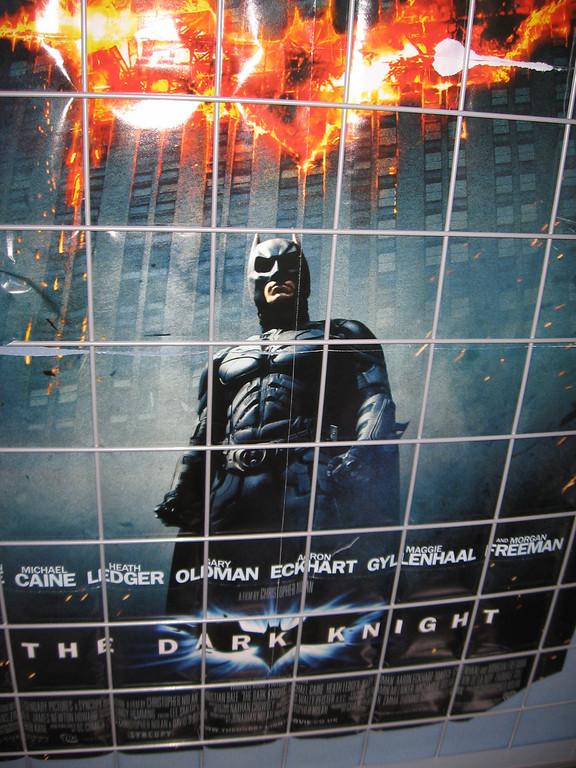 Batman watched over me in the hostel in Berlin.