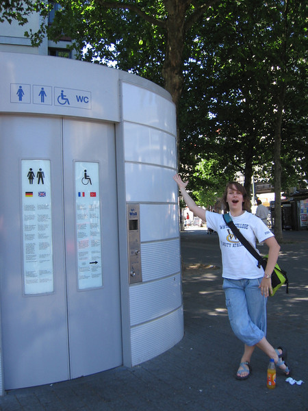 Self Cleaning public toilets!