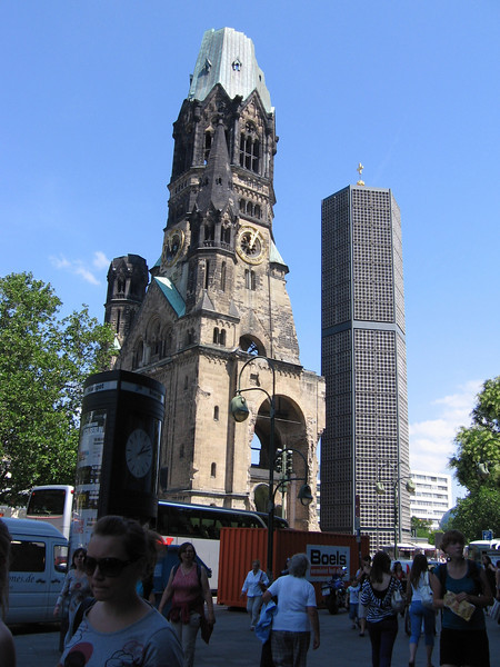 A bombed out Cathedral in Berlin. Its actually really beautiful when you get up close.