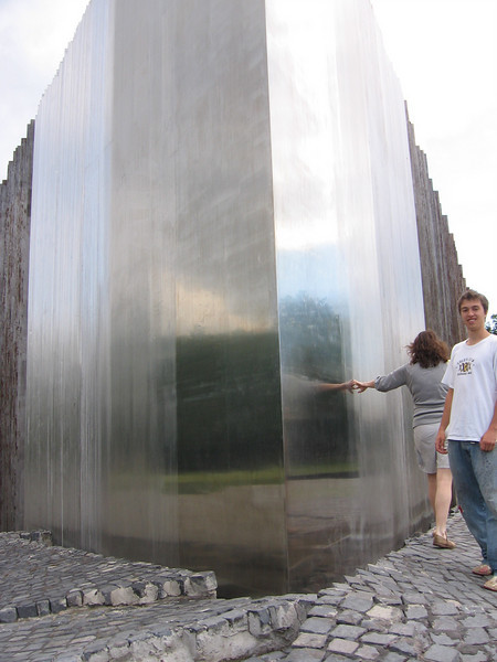 the backside of the memorial.